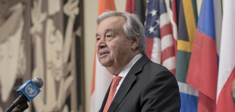 ".@UN chief @antonioguterres has called on #G7 leaders to tackle the #ClimateEmergency and step up #ClimateAmbition.  ""We absolutely need to keep the rise of temperature to 1.5° Celsius to the end of the century,"" he said >>  http:// bit.ly/2NAHr5U      #G7Biarritz #ClimateAction<br>http://pic.twitter.com/hryNKnk9k7"