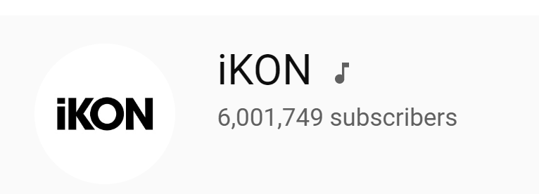 iKONs official YouTube channel has surpassed 6M subscribers! Congratulations, @YG_iKONIC! 💫 Subscribe if you havent yet~ youtube.com/user/Officiali…