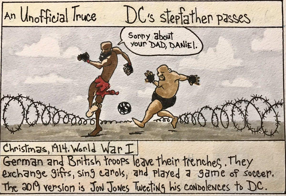 RT @BloodyElbow: MMA SQUARED: Temporary Truce between Jon Jones and Daniel Cormier (by @RiniMMA ) https://t.co/YFzAM3jSu5