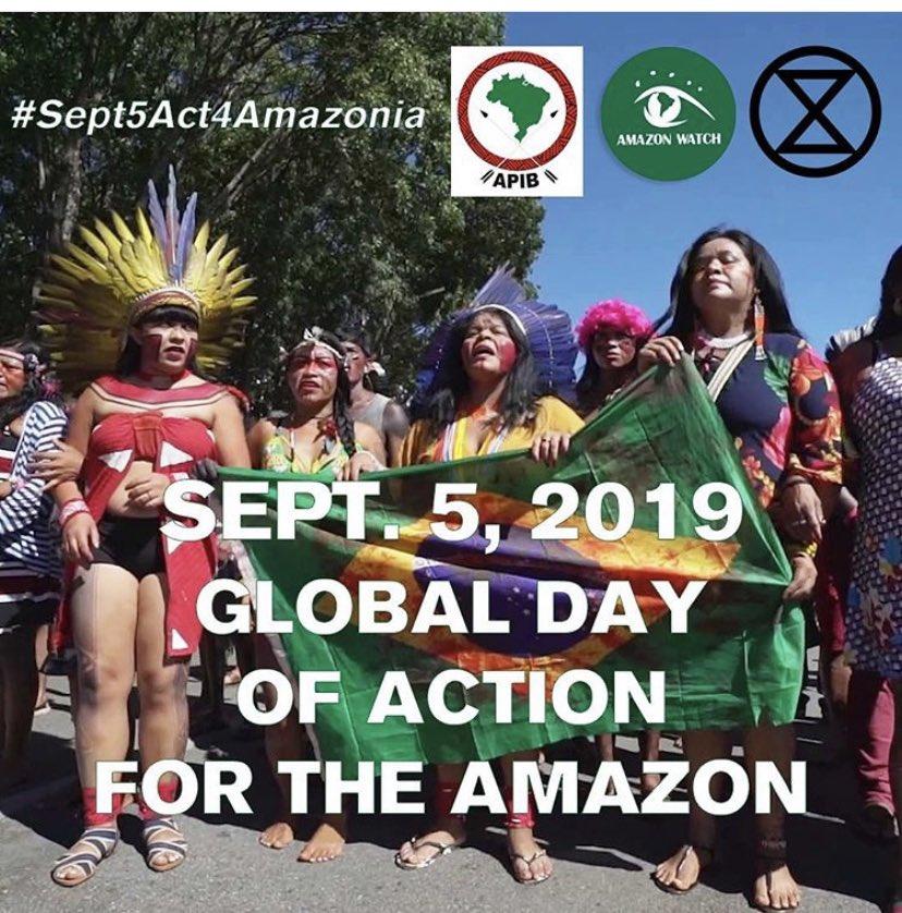 #ActForTheAmazon Se convoca a una Acción Global de Acción por la Amazonia el 5 de septiembre. Sigue creciendo el movimiento en la defensa de la selva tropical y los derechos indígenas #AmazonDay #Sep5Act4Amazonia #AmazonFires