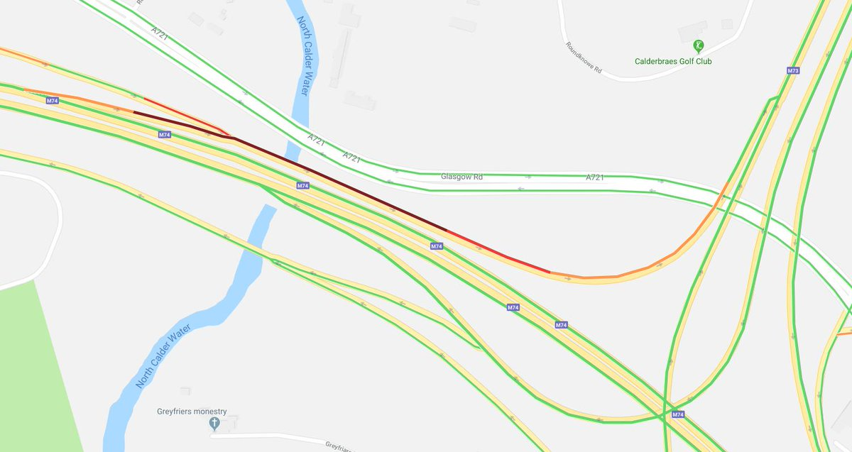 test Twitter Media - * NEW* ⌚️16:20 #M74 J4 Maryville S/B on the exit slip road onto the #M73 N/B is blocked due to an accident. Traffic passable with care https://t.co/QtyRxwemUT