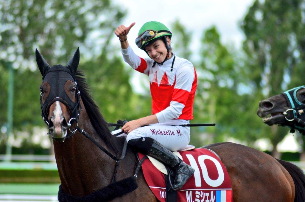 ミシェルさん素敵でした 優勝騎手がやたら写り込んでる…😇 #ミカエル・ミシェル  #WASJ