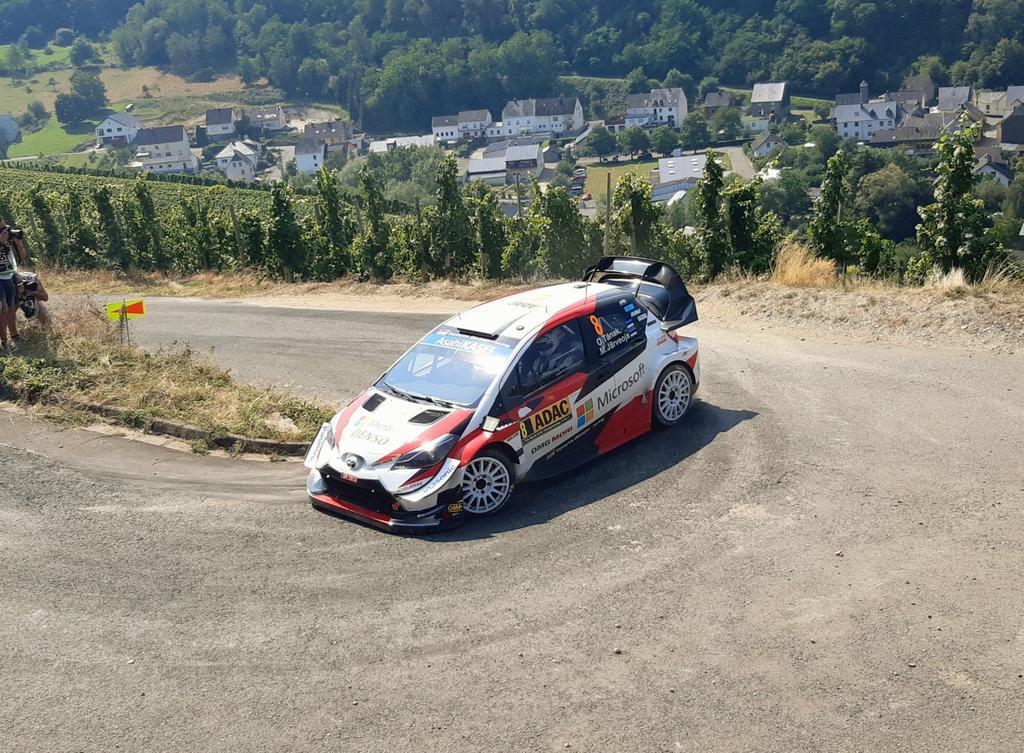 First 🥇🥈🥉 for the @TGR_WRC  #RallyeDeutschlandIn the past TTE had 1-2-3-4 in Safari Rally but this is best result in #WRC era.📷: @SaariJarno