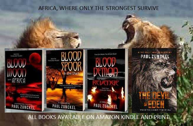 #RT Fabulous books by @zuncksThe lightening flashes, the lion stands with his victim between his forepaws, looks back at the hut, towards the cowering people inside, issues a deep growl as if challenging them to follow...#Africa #gr8books4u #BookBoost http://phollo.me/zuncks