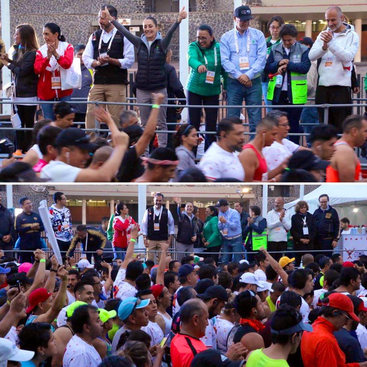 ¡Éxito corredores, nos vemos en la meta! #MaratónCDMX2019