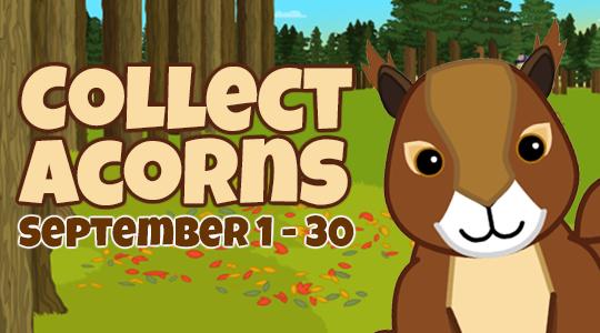 Visit Webkinz Newz for a sneak peek at our 2019 Acorn Collection Event, returning September 1st!Learn more: https://bit.ly/2ZmCRdG #webkinz #sneakpeek #2019 #acorn #collection #event #prizes #fall #september #games #desktop #apps #kids #pets #kidsgames
