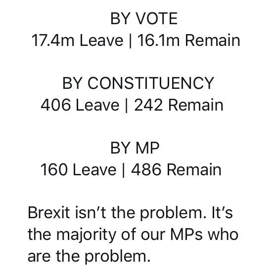 @RhonddaBryant You might find it's MPs who are ignoring democracy.