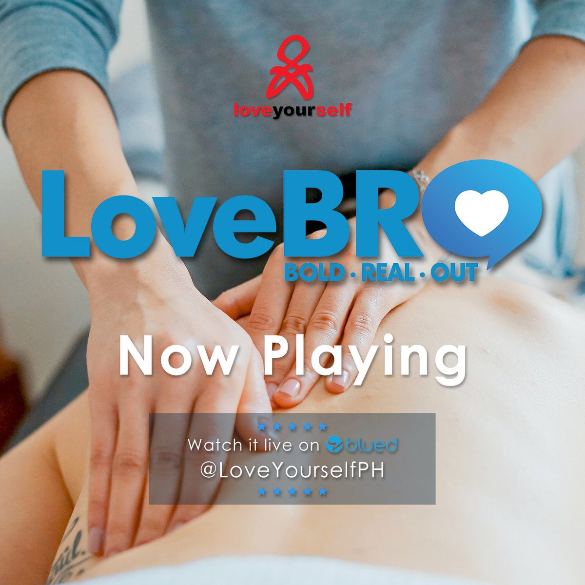 Now Playing: #LoveBro: Slowly, Masseurly Make sure to catch it before it ends! Download Blued app now at bit.ly/LoveBro and follow @LoveYourselfPh