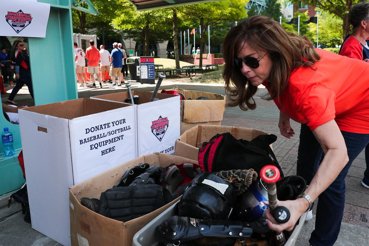If you are coming to the game TODAY, bring new or used baseball/softball equipment to donate to Baseball Tomorrow Fund Equipment Day!Equipment will be collected at various gates upon entry into the game.