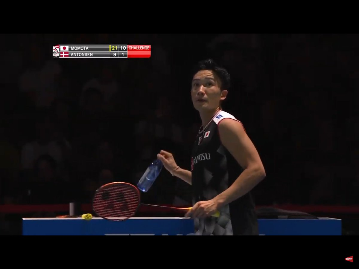 """In the Dungeons of St.Jakobshalle. P.V. Sindhu: """"That was a fun final. I don't think anybody can win as convincing as that!""""  Kento Momota: """"Hold my softdrink!""""  #WC2019 #Badminton #Momota #Sindhupic.twitter.com/Eagw7qpe4o"""