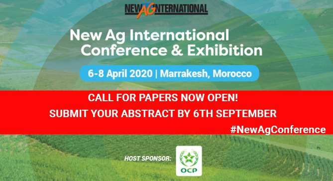 #NewAgConference - Call for Papers Open! Submit your abstract NOW! - https://lifesciences.knect365.com/newagconference/call-for-papers … #Biostimulants #fertilizers #Irrigation #PrecisionAg #agriculture #agronomy #agronomist #farmer #farming #agribusiness  #crops @African_Farming @ocpgroup @AlgaEnergy @UralchemUK