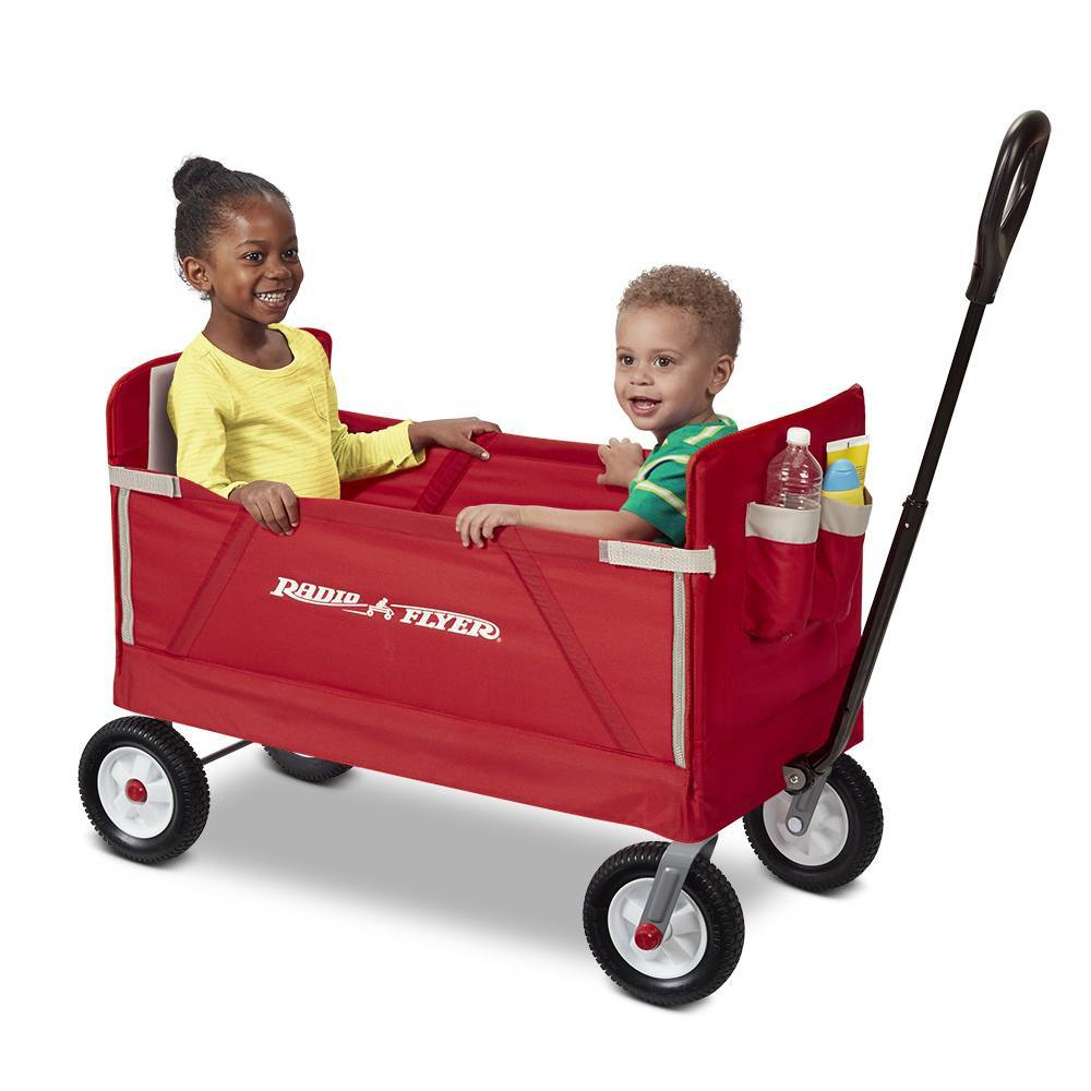 Radio Flyer, 3-in--Road EZ Fold Wagon, Rubber Wheels, Red $59 - https://t.co/Ns03V7mbyd https://t.co/ufPVty2ope