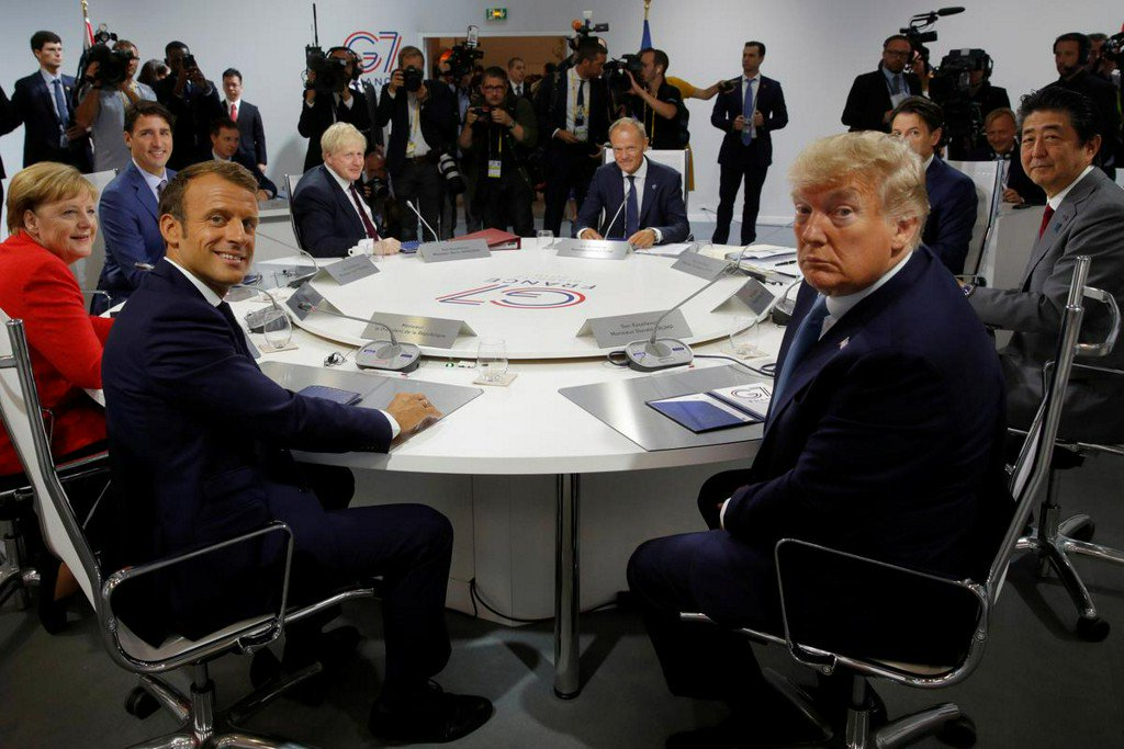 Macron says G7 agreed on joint action over Iran to defuse tensions  https:// reut.rs/2P8qzWr     <br>http://pic.twitter.com/ZJ49wxVT60