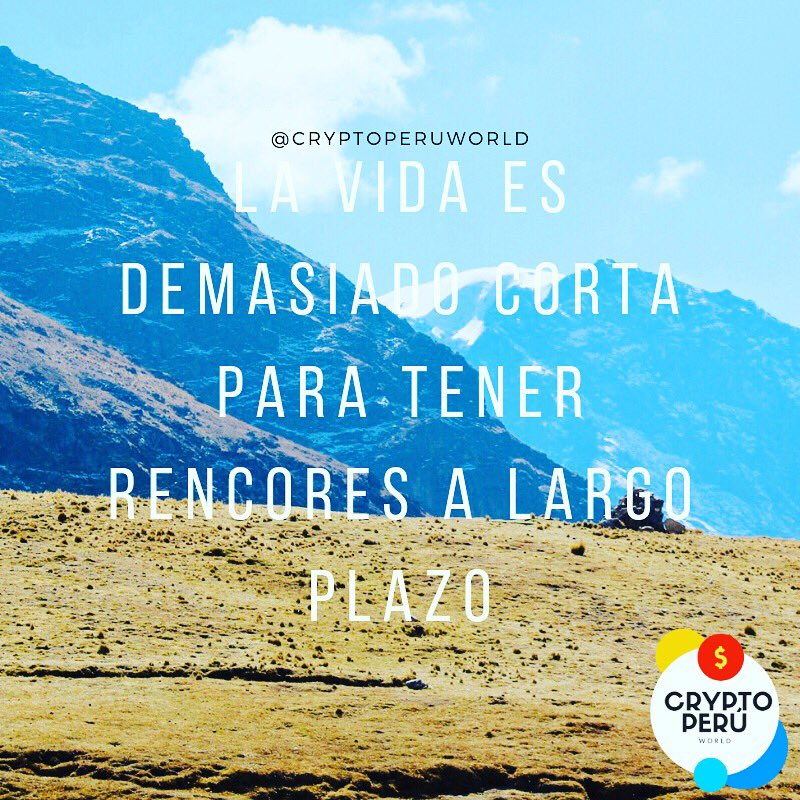 Crypto Perú World On Twitter Tú Vida Es Corta