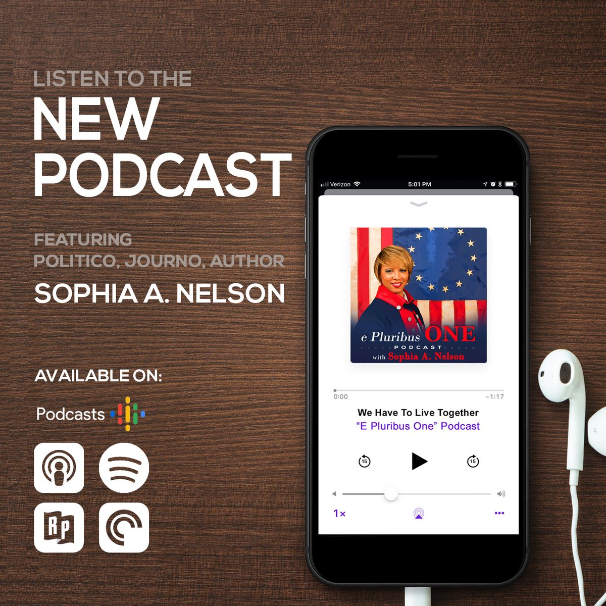 Please check out @IAmSophiaNelson latest venture. Her new #podcast #epluribusone it's LIVE now. Four episodes playing with the newest episode released this morning, Sunday, August 25, 2019. <br>http://pic.twitter.com/YSmoDwEC54