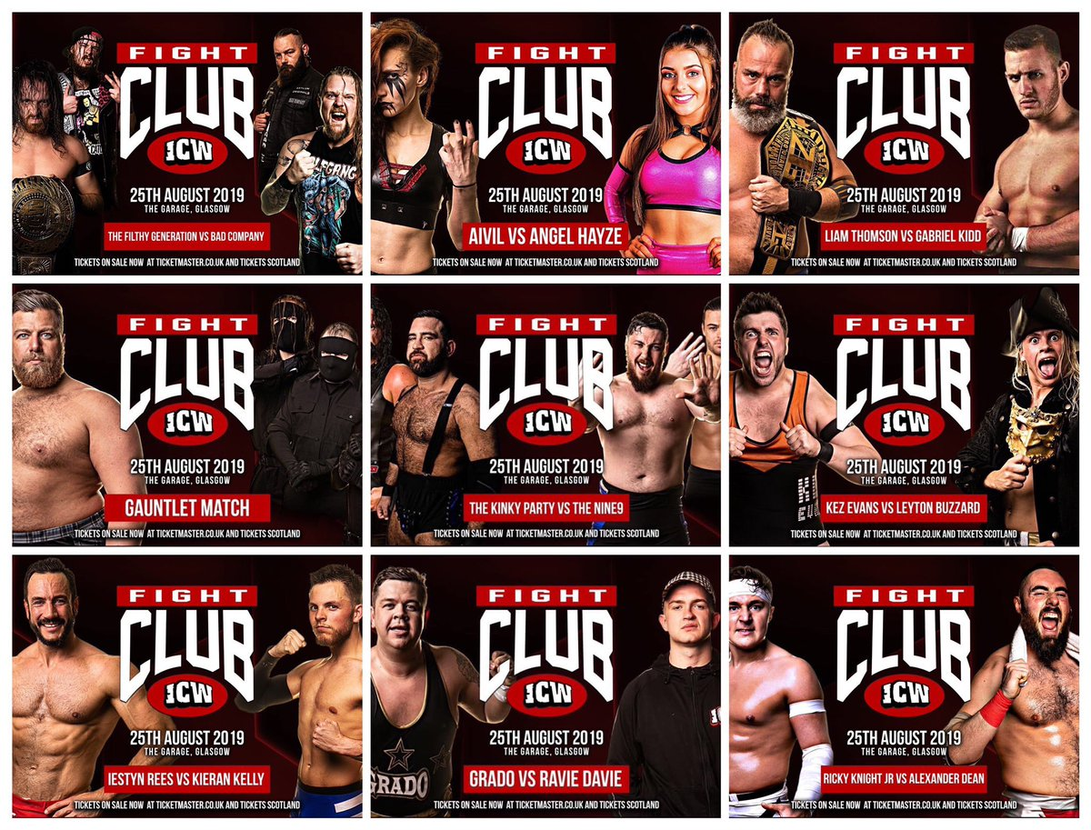 What a card for @InsaneChampWres tonight. Tonight is gonna be special, I can feel it! Buy the ticket, take the ride!