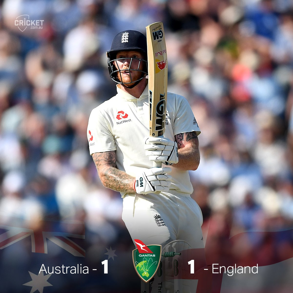 ENGLAND WIN. WOW. Ben Stokes (135*) pulls off the unthinkable to level the series at 1-1 with a record-breaking run chase.  Instant #Ashes classic:  https:// cricketa.us/Ashes19-3    <br>http://pic.twitter.com/gYhBqVEksy