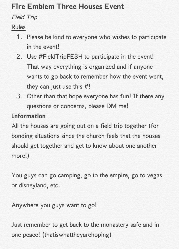 || Event is starting now!   Remember to use #FieldTripFE3H to participate in the event!   Anyone can join!   Have fun everyone!   Rt to share around! <br>http://pic.twitter.com/hYC6Pgl0Jv