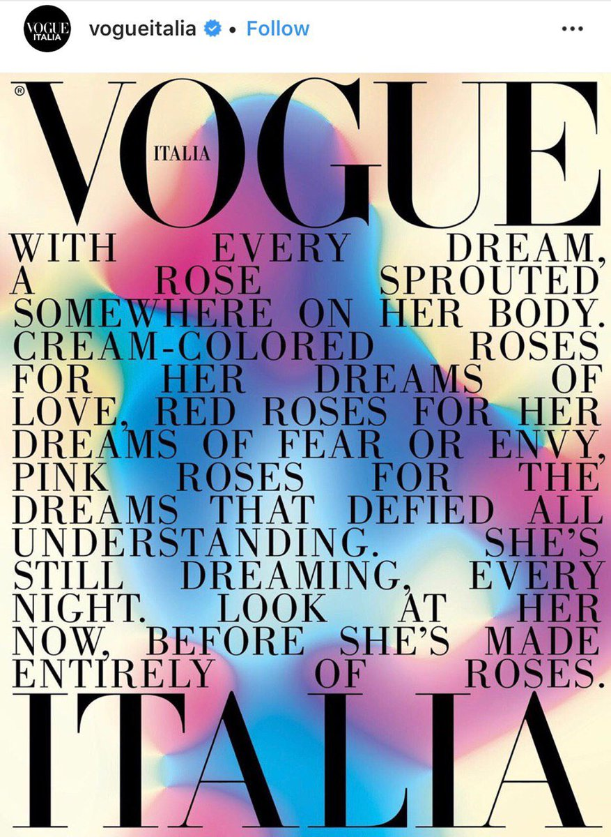 RT @CandyWarhol9: Lady Gaga for Vogue Italia ?  Roses tease https://t.co/sPATqyVi2J