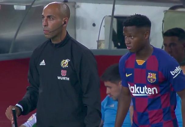 Ansu Fati, en su debut con el Barcelona.