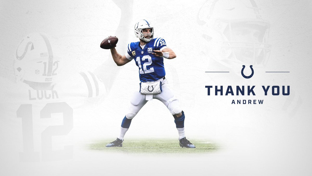A leader on the field. A pillar of the community. #ThankYouLuck