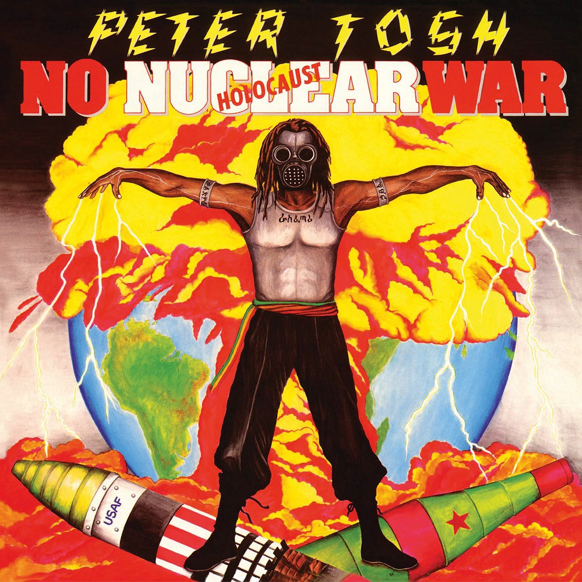 Album cover of the week: Peter Tosh - No Nuclear War  The cover of this Peter Tosh' classic is illustrated by Jamaican graphic artist Neville Garrick. He is best known for creating the art work for many Bob Marley album covers. The message is crystal clear! https://t.co/34sSek96iQ