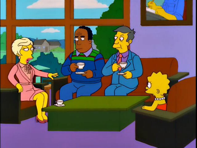 """""""I can't believe how they're dumbing down the Springfield Library. They've gotten rid of the English Literature section and replaced it with a 'Make Your Own Sundae' bar."""""""