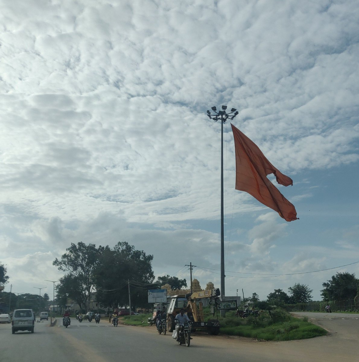 As soon as you enter Tiptur in Karnataka, this is how you are welcomed. 👍