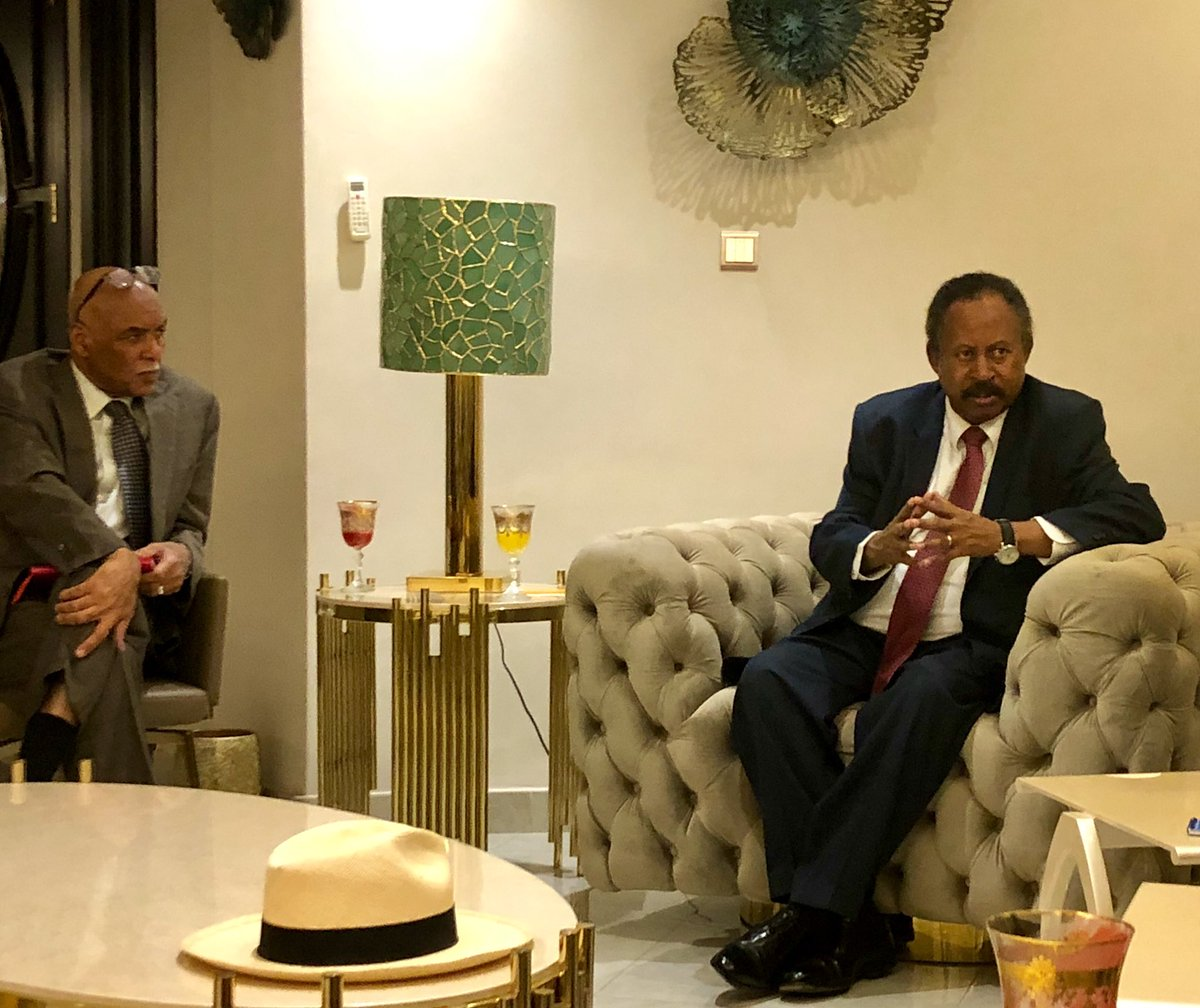 Congratulations to Dr. Hamdok on his appointment as PM of #Sudan. Honoured to meet the PM tonight together with EU colleagues. Discussing the many challenges #Sudan is facing and how we can support Sudan during the coming years. We look forward to working with him. @DutchMFA<br>http://pic.twitter.com/oSRKgvEvoI