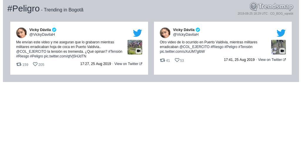 #peligro es ahora una tendencia en #Bogotãhttps://www.trendsmap.com/r/CO_BOG_vqnebt