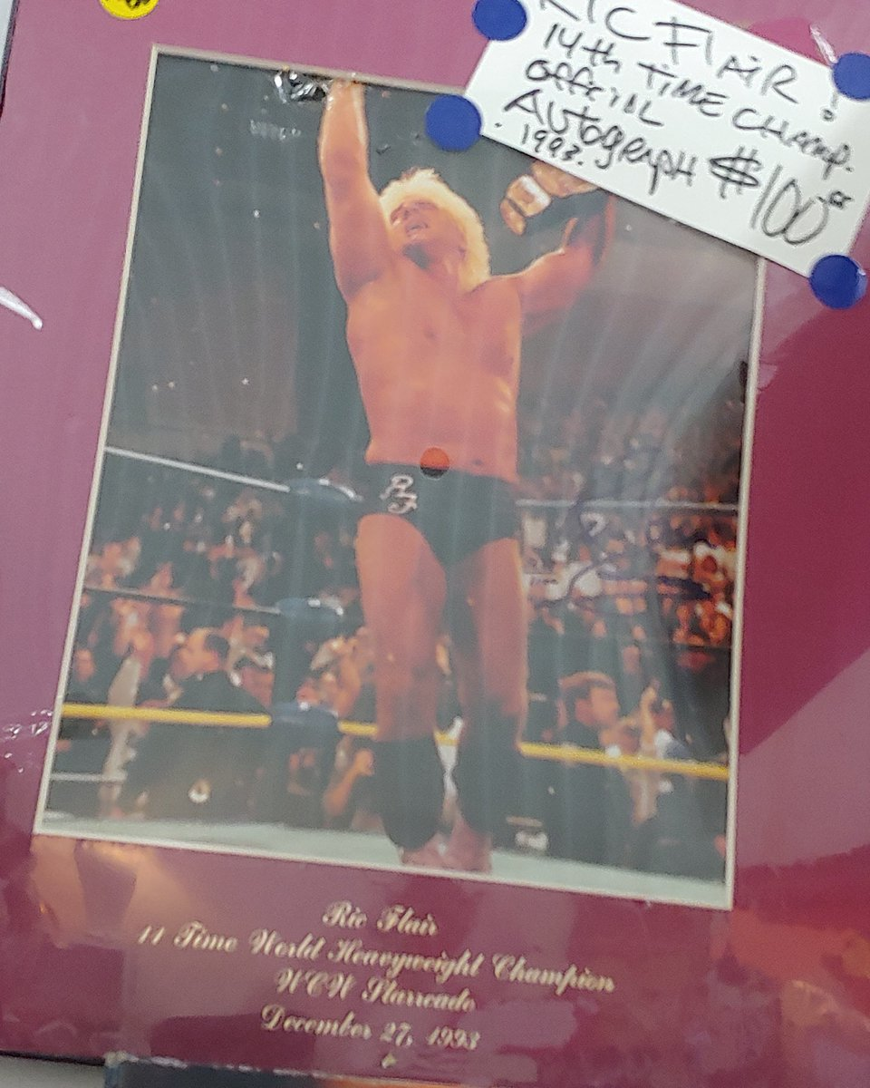 For sale autographed Ric Flair 11th time commemorative photo with COC from WCW $100 @nwa @backin_day @WCWarchive @NWALegends @RicFlairNatrBoy @prowrestlingnet https://t.co/gMqG7iEwst