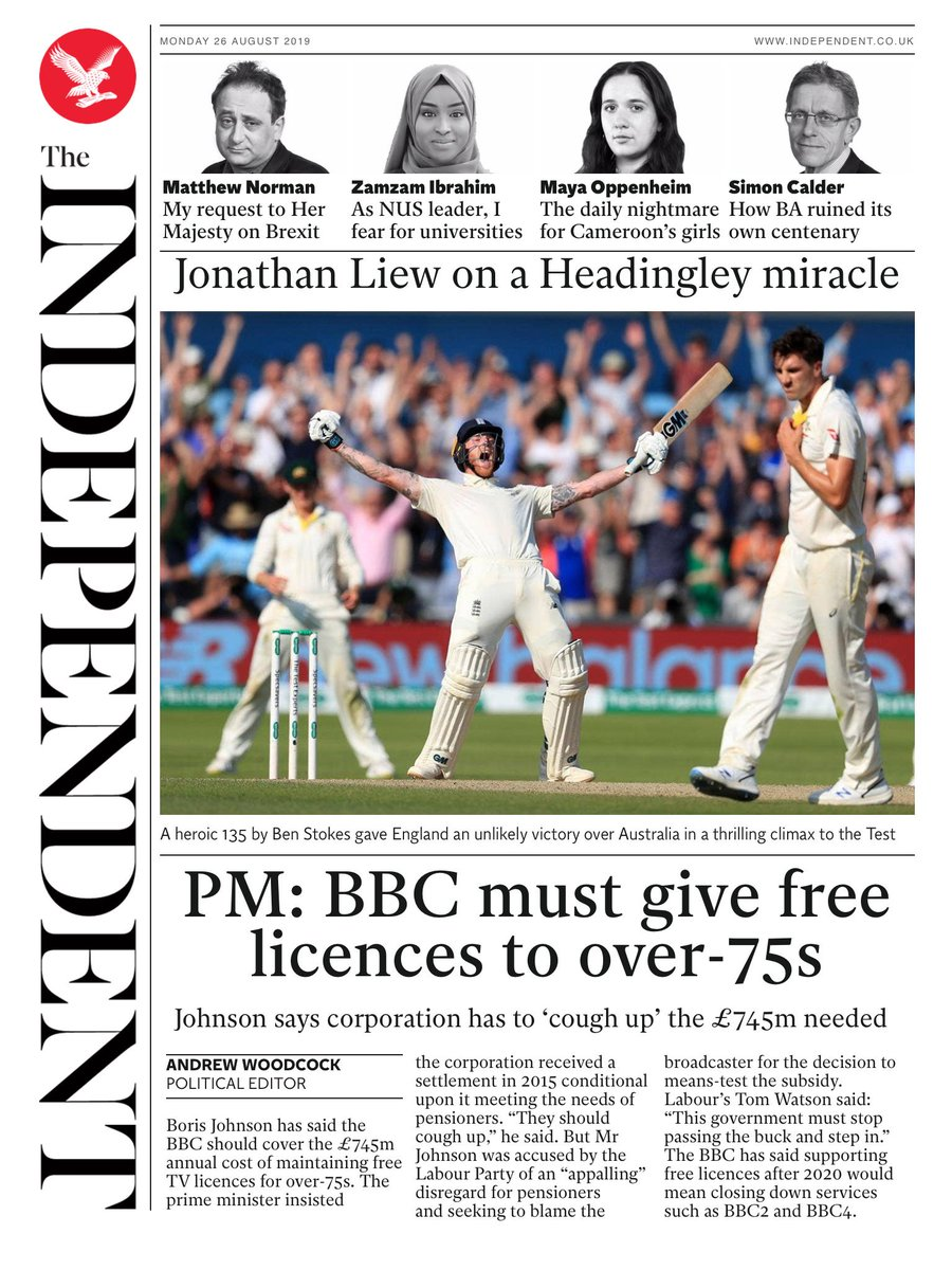 Tomorrow's @independent front page #tomorrowspaperstoday To subscribe to the Daily Edition http://www.independentsubscriptions.co.uk/