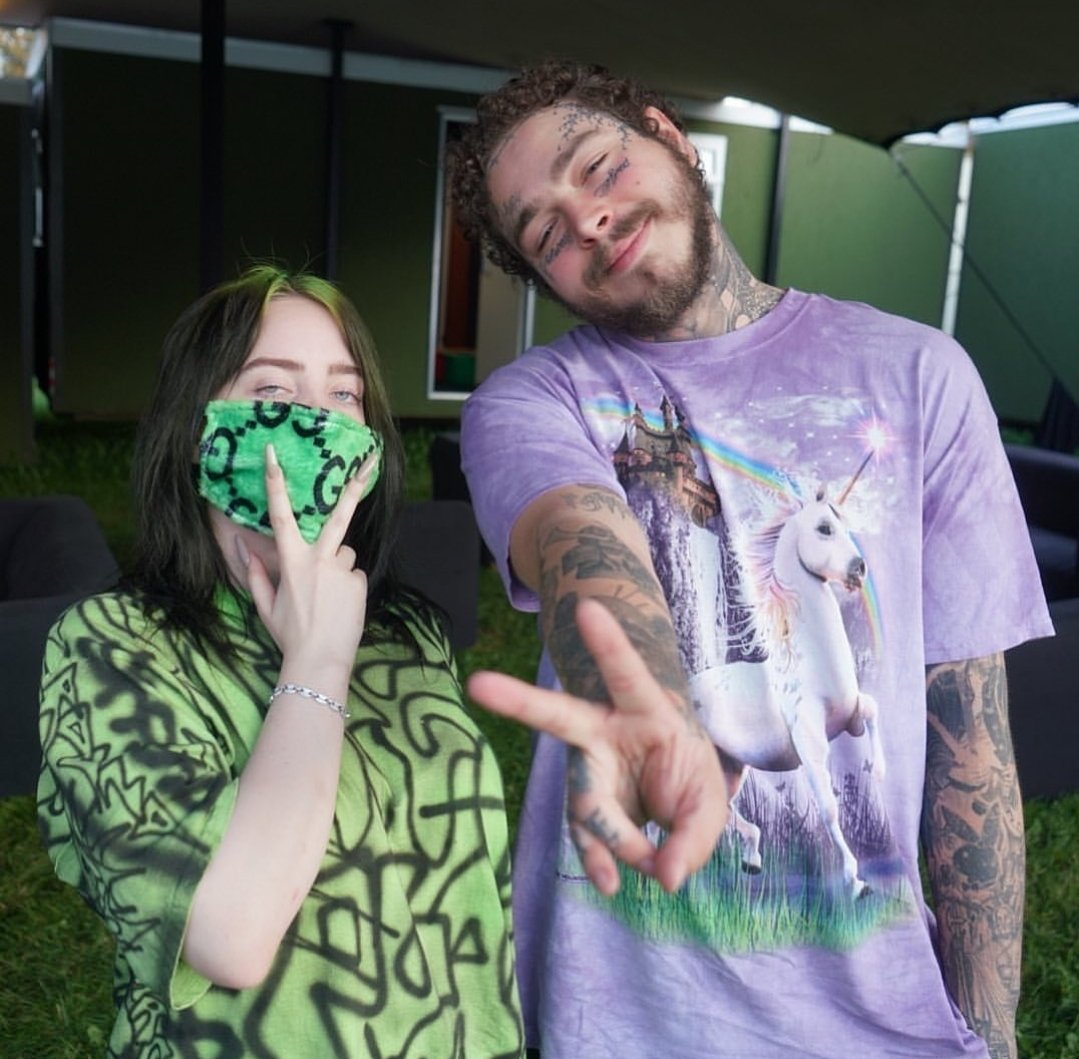 RT @BillieEilishBR: Billie Eilish e Post Malone juntos ontem. https://t.co/o6wWeessei