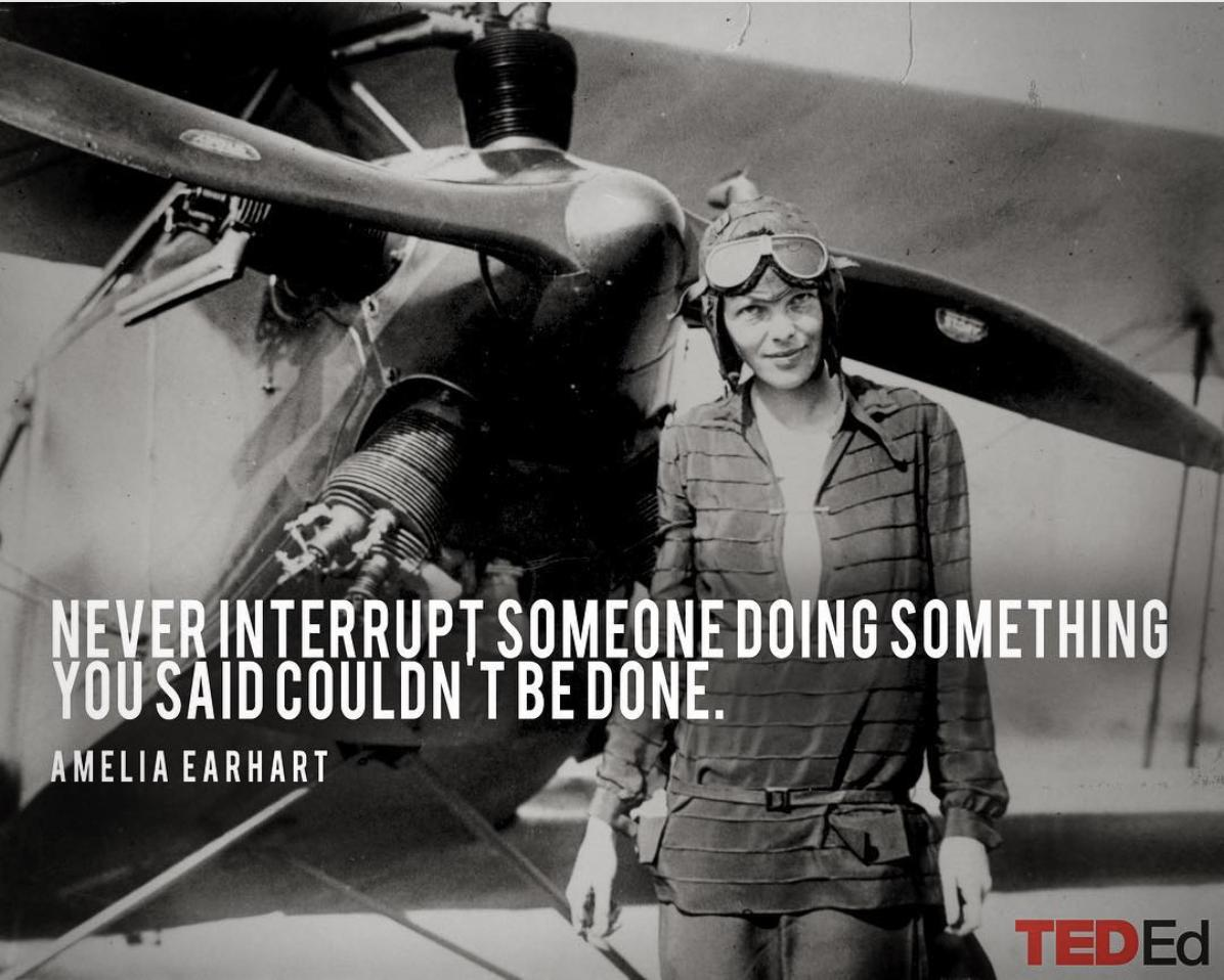 On this day in 1932, Amelia Earhart became the first woman to fly solo nonstop from the West coast of the United States to the East; setting the women's nonstop transcontinental speed record. As Earhart said herself,