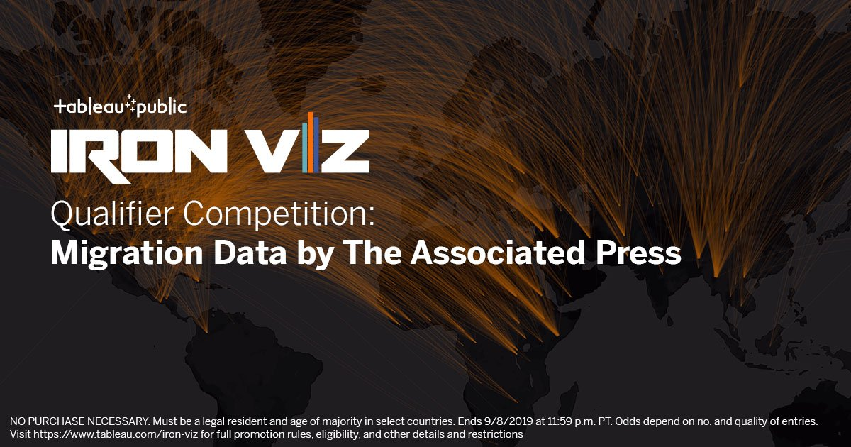 #IronViz is a chance to show off your vizzing skills and potentially compete at #data19. But even more—it's an opportunity to push your skills, learn new things, and engage with the community. Give it a shot: https://t.co/vQMMj5CGLb https://t.co/MSlJpfyzjp