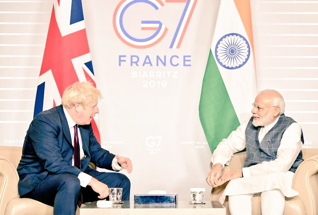 #G7Biarritz  Connected history Common language Shared values  Indian companies leading UK job creators. 1.8 million British Indians a #LivingBridge between the world's oldest and biggest democracies.  Post Brexit let's turbocharge our new-old special relationship <br>http://pic.twitter.com/dmsrMguczM
