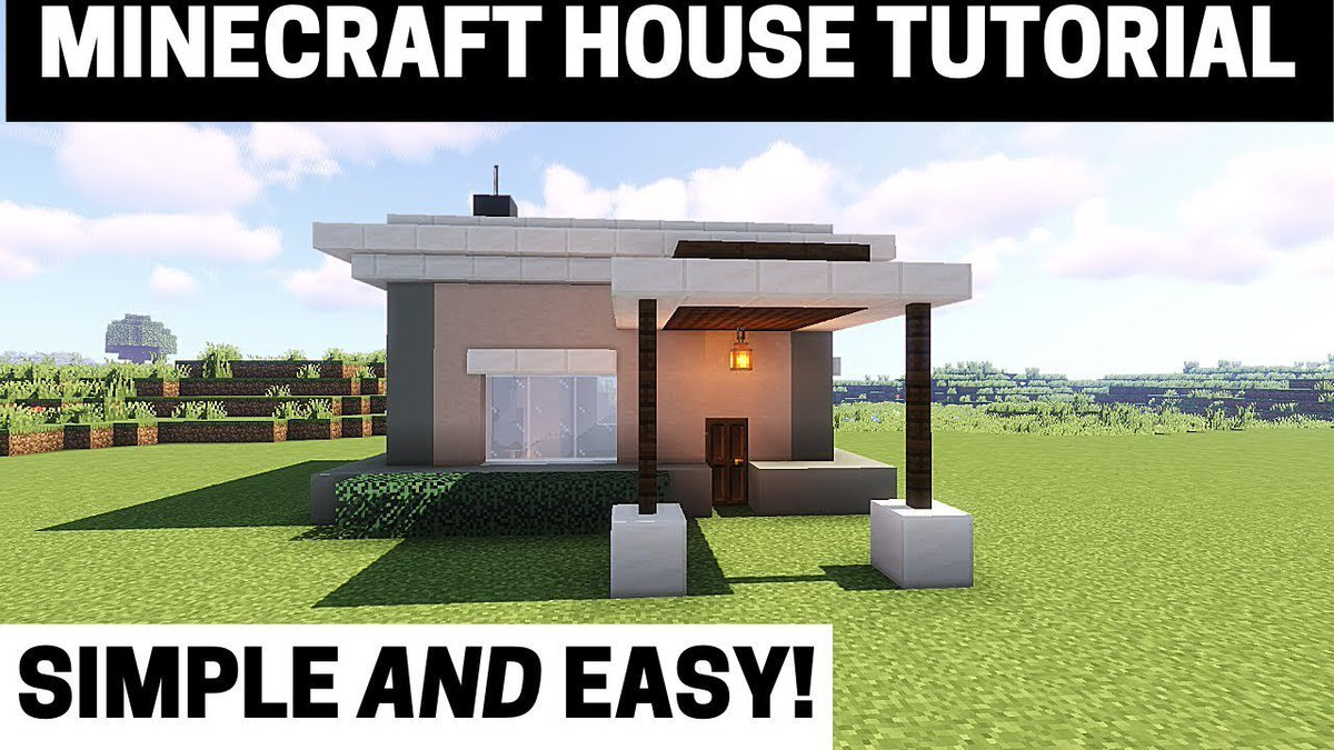 Pcgame On Twitter Minecraft House Tutorial How To Build A Small