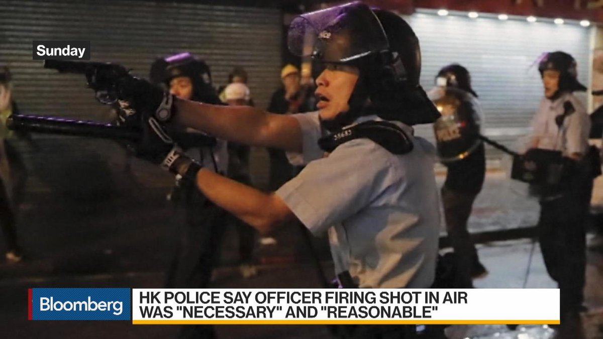 Hong Kong protests: -Police arrest 36 people aged from 12 to 48 -Clashes in Tsuen Wan lead to officer firing a weapon, deployment of water cannons -China sends strongest warning yet it's thinking of sending troops to streets  https://t.co/QdWuEhsru2 https://t.co/GZYGKyqeso