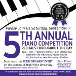 Join us Saturday, Sept. 7, 2019, for the fifth annual International Piano Competition on HPU's campus! 🎹🎶 #HPU365