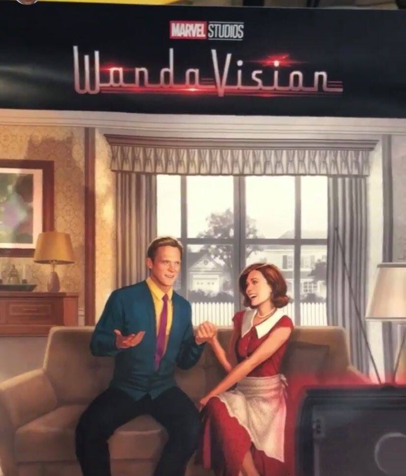 First look at WandaVision. Oh we going full House of M reality warping Scarlet Witch, huh?