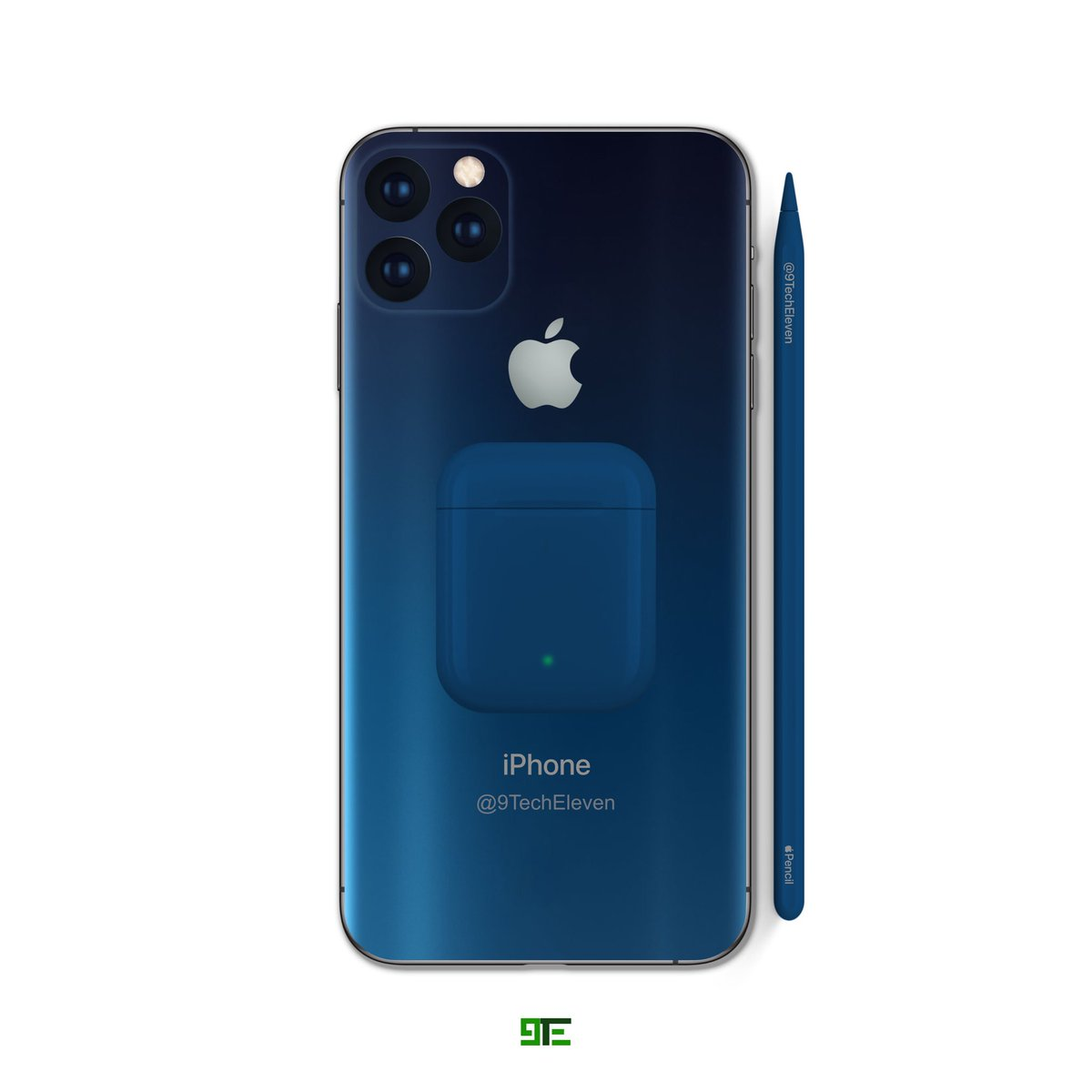 9techeleven On Twitter Iphone 11 Pro In Nebula Blue Airpods And