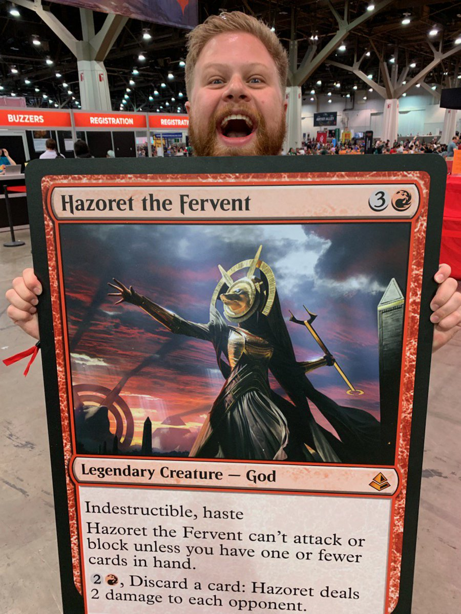 PRAY TO YOUR RED GODS. #MTGVEGAS<br>http://pic.twitter.com/A5copDeNag