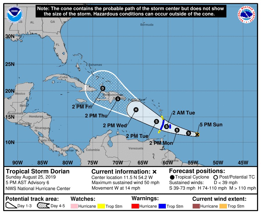 Tropical Storm Dorian gathers strength over the Atlantic and could become hurricane — latest track, path, forecast model