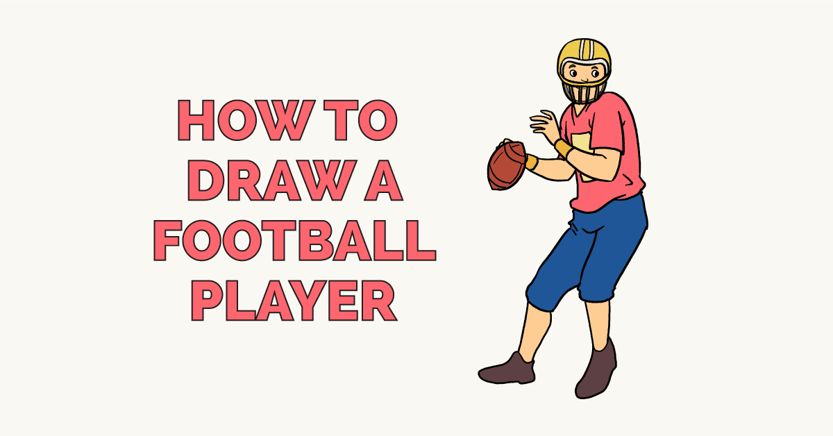 Easy Drawing Guides On Twitter How To Draw A Football Player