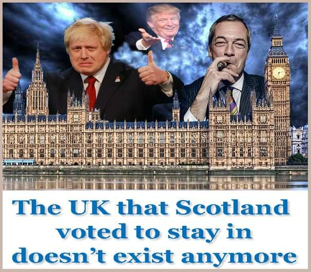 @bobso1972martin @WalterWhite444 Go on tell us how we are BT now in 2019 facing a Brexit that we never voted for, what are the pros for Scotland in a rw xenophobic tory run Brexit? Ignored & treated with utter contempt in WM. Your ok with the power grab & all the insults? #indyref2 #LeaveUK #euroscot #AUOB #Yes