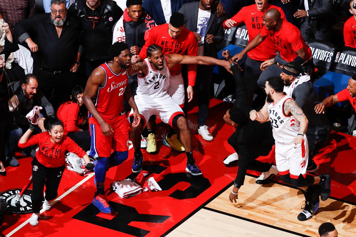 Relive an unforgettable moment in @Raptors history as Kawhi Leonard sends Toronto to the ECF - NEXT on NBA TV! #TeamDay