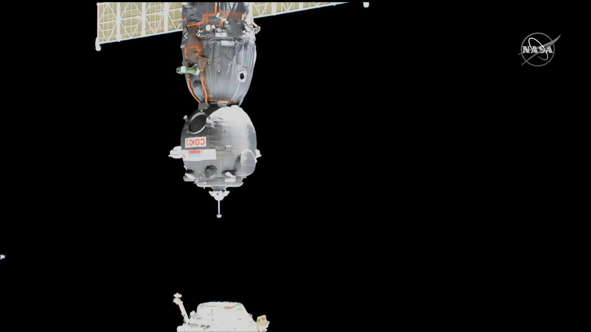 Three Exp 60 crewmembers successfully relocated their Soyuz MS-13 spacecraft when they docked to the Poisk module today at 11:59pm ET. go.nasa.gov/2L8T2Gv