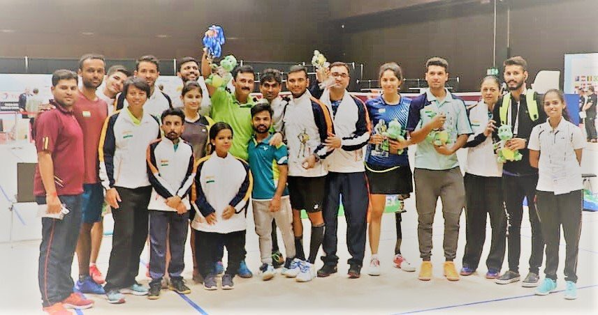 Incredible Feat for Indian  Badminton!  Indian Para team won  medals including , and in a  performance at the #BWFWorldChampionships2019.   Kudos Guys! Nation Celebrates your win.   #IndiaontheRise   #BWFWC2019  #badminton #ParaBadminton<br>http://pic.twitter.com/Va8sfTMVnr