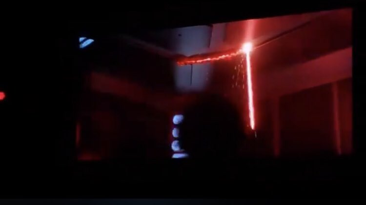 *Rides Rise of the Resistance at Galaxy's Edge* *Kylo's saber starts slicing through the ceiling, everybody screams in fear*  me: YES YES YES OMG YES COME THROUGHHH IM READY <br>http://pic.twitter.com/tFKGwSuYKk