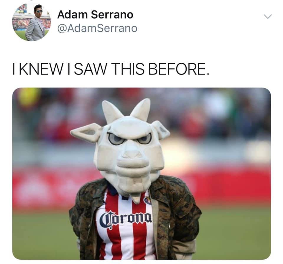 LA Former Chivas keeps saying they're our rivals. No you're not. You're in the middle of your second season since rebranding and were never our rivals when you were Chivas. San Jose, Seattle. Those are our rivals. You still can't beat us! #LAFCvLAG https://t.co/VBYH27jh5U